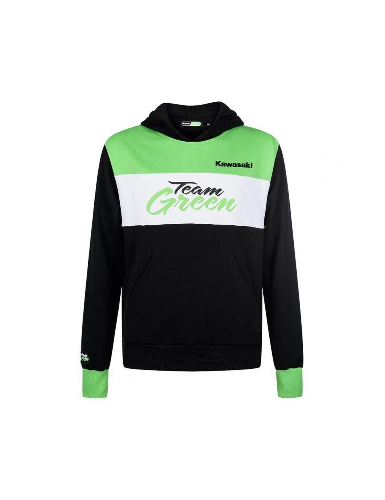 Sweat à capuche Enfant Team Green Kawasaki