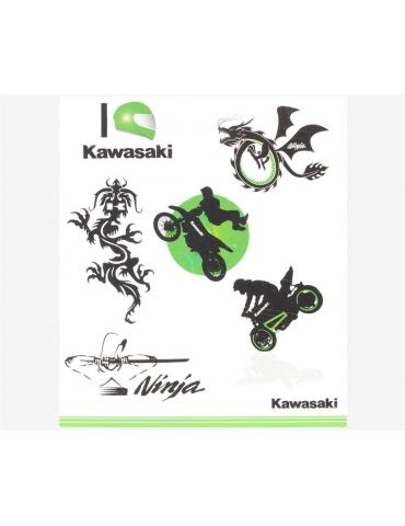 Kit tatouages enfant Kawasaki
