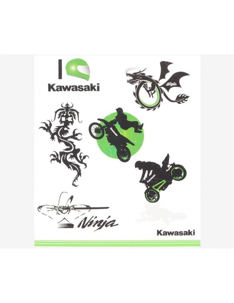 Kit tatouages enfant Kawasaki b0f6411c868