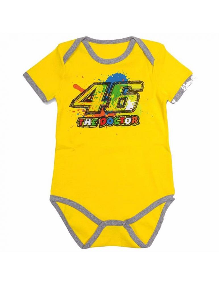 Body bébé Yellow Vr46 de la collection du mythique Valentino Rossi Body  pour bébé   enfant aux couleurs de Valentino Rossi 965200d08e0
