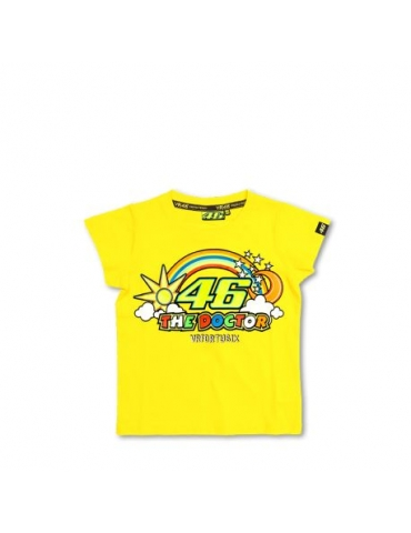 T-shirt Kid Yellow Bike Vr46 - Valentino ROSSI