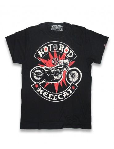 Tee-Shirt Enfant Hotrod Hellcat Bobber, motif moto sur éclat rouge