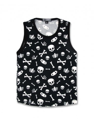 Tee-Shirt enfant Six Bunnies Skulls sans manches