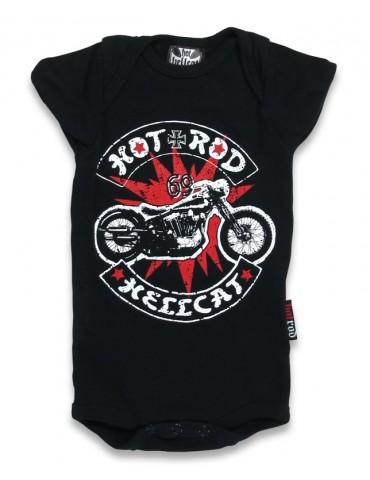 Body Bébé Hotrod Hellcat Bobber moto sur éclair rouge