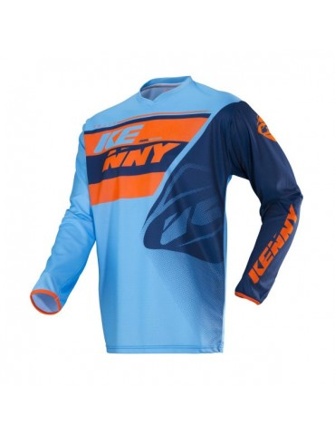 Maillot Tout Terrain Track Kid Blue Orange - Kenny
