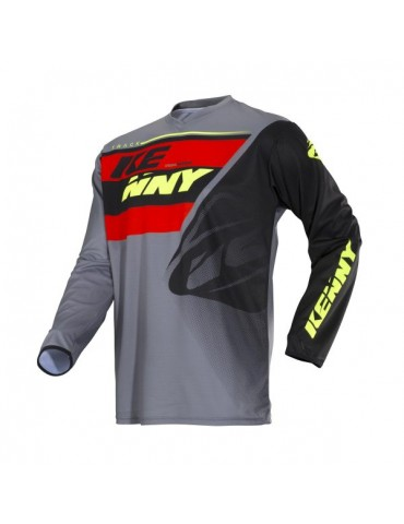 Maillot Tout Terrain Track Kid Grey Orange - Kenny