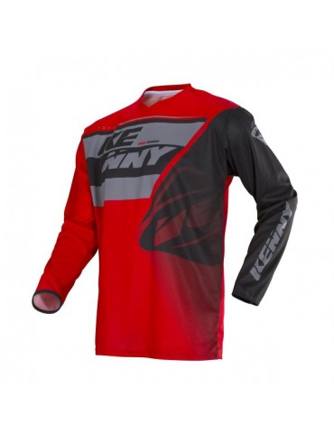 Maillot Tout Terrain Track Kid Grey Red - Kenny