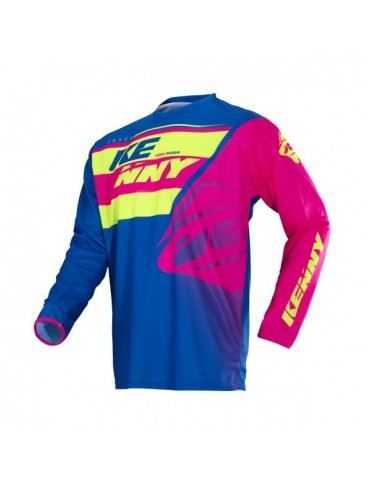 Maillot Tout Terrain Track Kid Lime Pink - Kenny