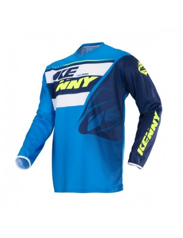 Maillot Tout Terrain Track Navy Cyan - Kenny