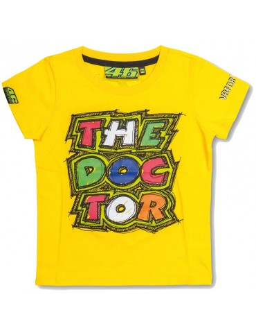 T-shirt Kid Yellow The Doctor Vr46 - Valentino ROSSI