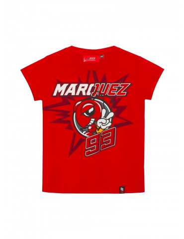 T-shirt Enfant Rouge Cartoon Ant Marc Marquez - MM93