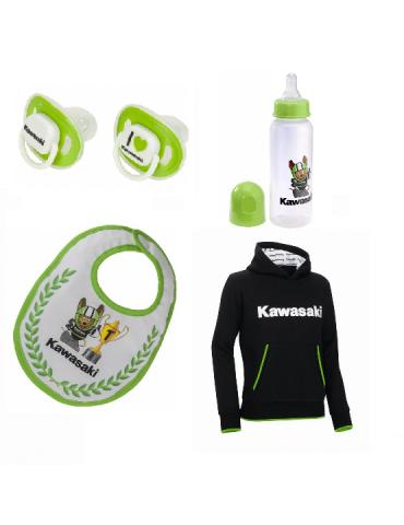 Pack Naissance Kawasaki biberon tétine sucettes sweat-shirt