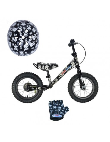 Pack Draisienne Kiddimoto Metal Super Skullz