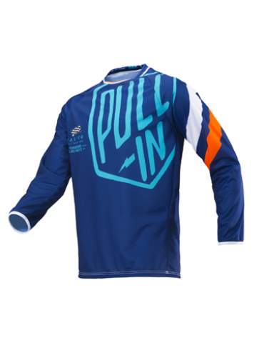 Maillot Tout Terrain Challenger Master Navy Orange - Pull-In