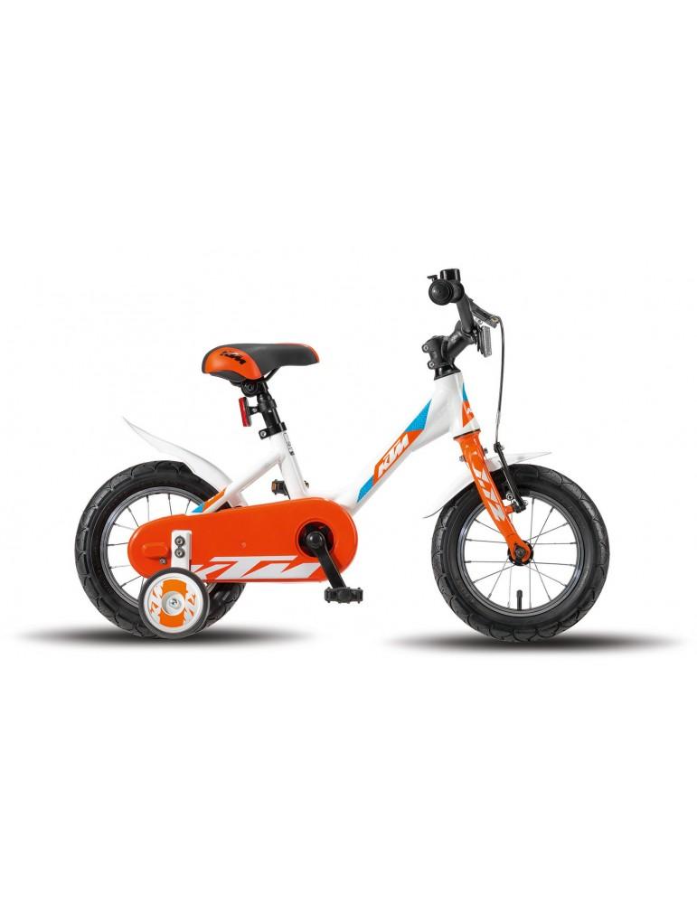 Vélo Kids Girl White Orange Blue KTM