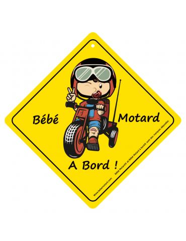 Panneau à ventouser Bébé Motard à bord - 2019