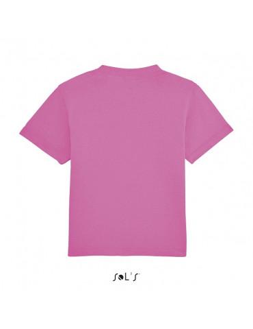 Tee-shirt Bébé Motard Mosquitos - vue de dos - couleur rose