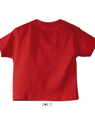Tee-shirt Bébé Motard Mosquitos - vue de dos - couleur rouge