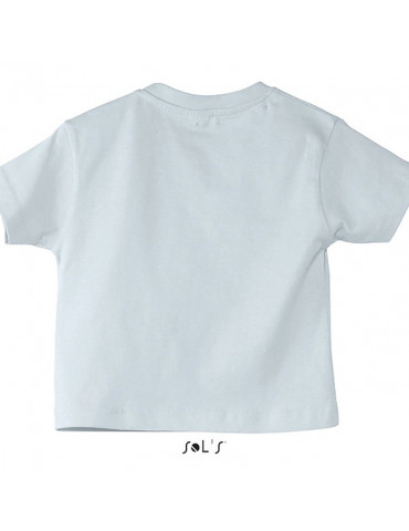 Tee-shirt Bébé Motard Mosquitos - vue de dos - couleur blanc