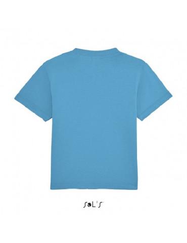 Tee-shirt Bébé Motard Mosquitos - vue de dos - couleur bleu