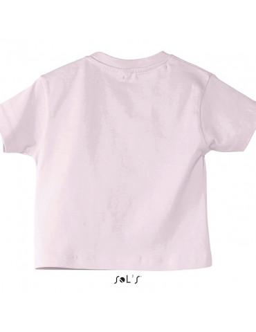 Tee-shirt Bébé Motard Mosquitos - vue de dos - couleur rose pale