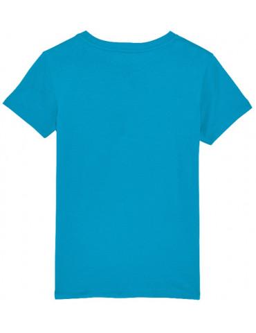 Tee-Shirt  Enfant BébéMotard - MX Kids (Bio) - Tee-shirt vue de dos - Couleur azur