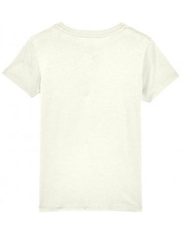 Tee-Shirt  Enfant BébéMotard - MX Kids (Bio) - Tee-shirt vue de dos - Couleur blanc