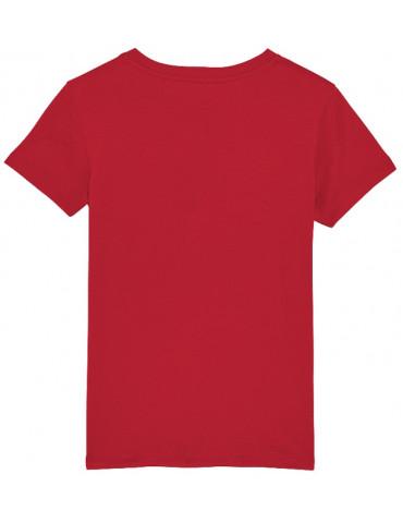 Tee-Shirt  Enfant BébéMotard - MX Kids (Bio) - Tee-shirt vue de dos - Couleur rouge