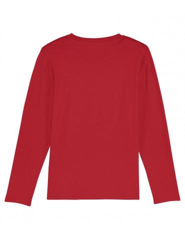 Tee-Shirt  Enfant BébéMotard - MX Kids (Bio) - Tee-shirt manches longues vue de dos - couleur rouge