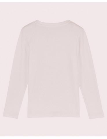 Tee-Shirt  Enfant BébéMotard - MX Kids (Bio) - Tee-shirt manches longues vue de dos - couleur blanc