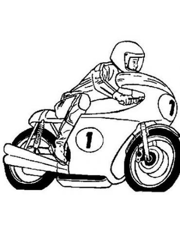 Bebe Motard Coloriage Moto Gratuit