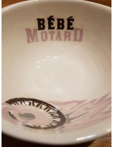 Set repas bébé Motard -  détail du graphisme