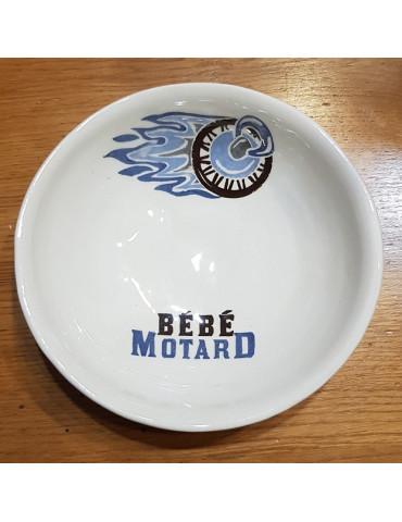 Set repas bébé Motard -  assiette bleue
