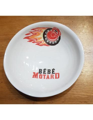 Set repas bébé Motard -  Assiette rouge