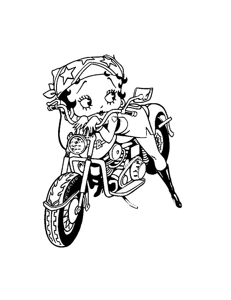 Coloriage moto gratuit colorier les enfants - Moto a colorier en ligne ...