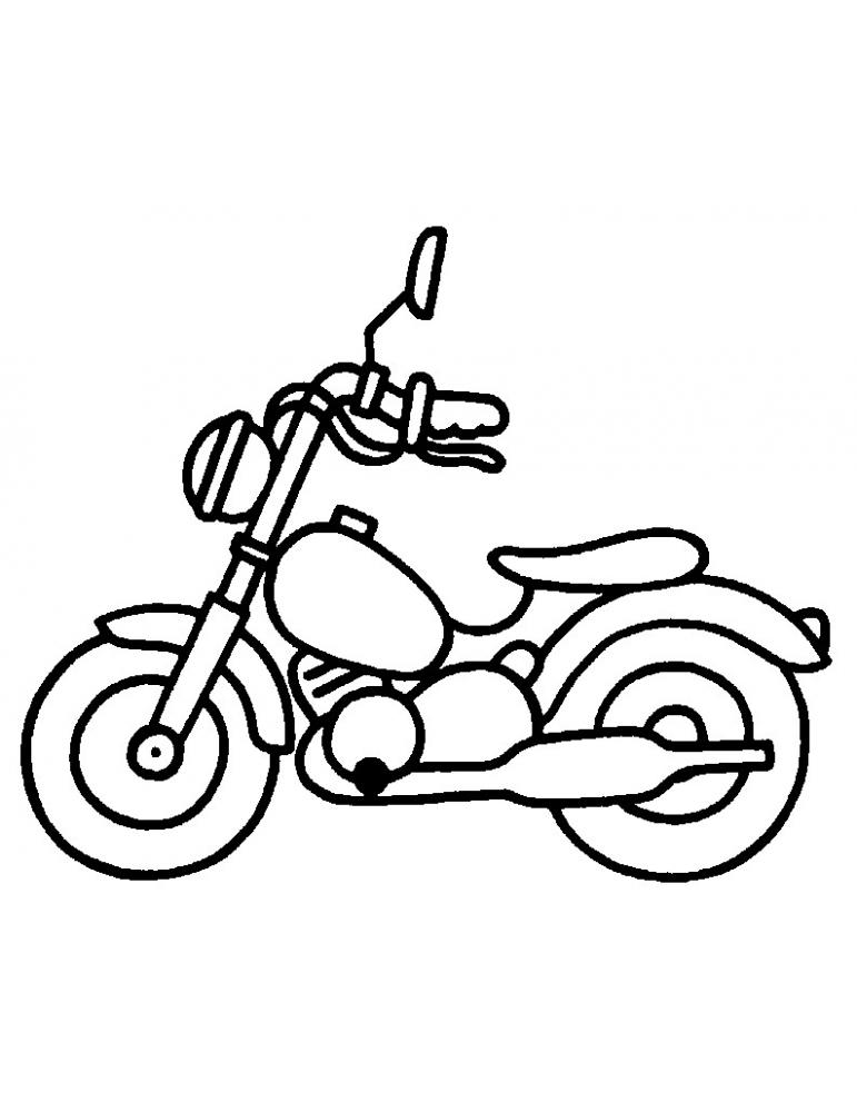 Coloriage Moto 04