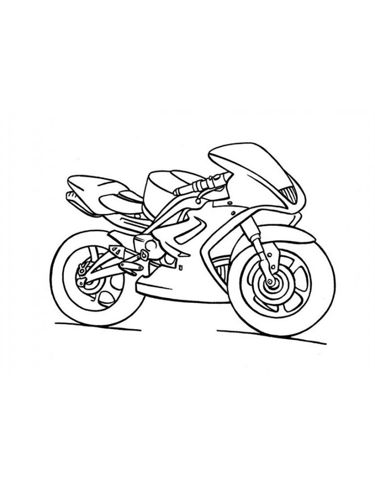 Coloriage Moto 05