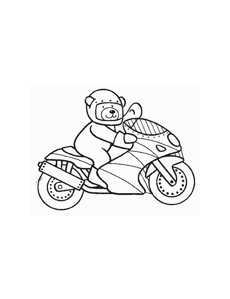 Coloriage Moto 08