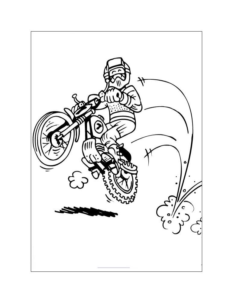 Coloriage moto 09 - Coloriage de moto ...