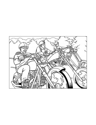 Coloriage moto - 10