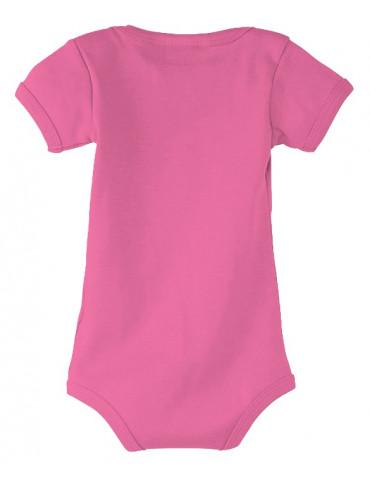 Body Bébé Motard - vue de dos - couleur rose - Coton biologique - Organic Bambino