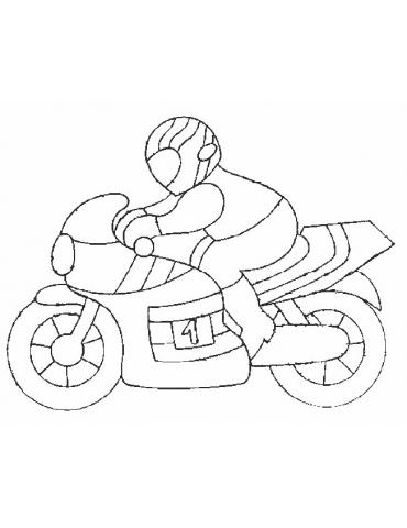 Coloriage moto - 19