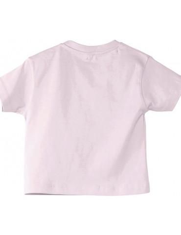 Tee Shirt Bébé Motard Mosquitos -  Born to Ride - vue de dos - rose pale
