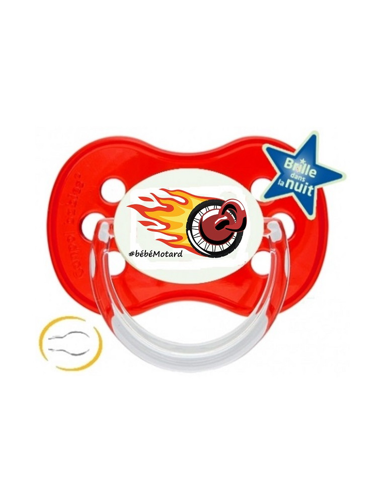 Tétine Logo Bébé Motard - Vue du dessin
