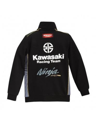 Sweat zippé Enfant - Kawasaki - Vue de dos