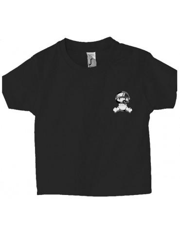 Tee Shirt Bébé Motard Mosquitos -  Personnalisable - Face noir