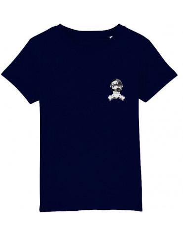 Tee-Shirt  Enfant BébéMotard - Personnalisable (Bio) - vue de face french marine