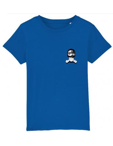 Tee-Shirt  Enfant BébéMotard - Personnalisable (Bio) - vue de face royal blue