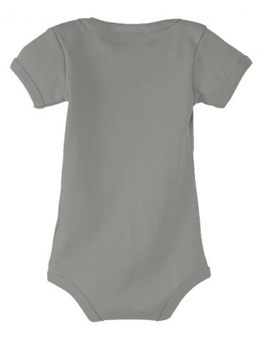Body Bébé Motard Bambino - Notice pour Papa - Vue de dos gris