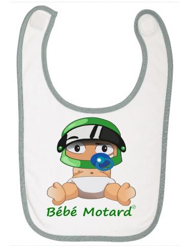 Pack Naissance Bébé Motard - Vert - Bavoir bébé - Casque vert - Moto